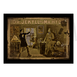 Dr Jekyll and Mr Hyde Vintage Poster Card