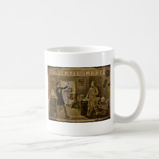 Dr Jekyll and Mr Hyde Vintage Poster Classic White Coffee Mug