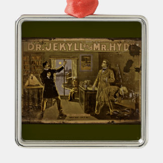 Dr Jekyll and Mr Hyde Vintage Poster Metal Ornament