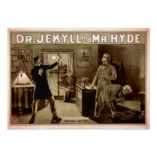 Dr. Jekyll and Mr. Hyde Vintage Poster on Canvas 2