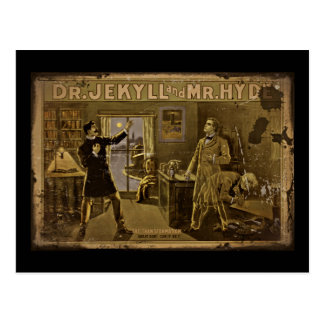 Dr Jekyll and Mr Hyde Vintage Poster Postcard