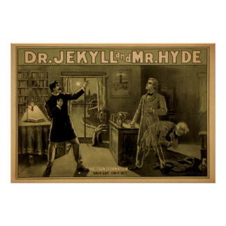 Dr. JEKYLL & Mr. HYDE Play Act VAUDEVILLE Poster