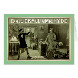Dr Jekyll Vintage Theater Poster Greeting Cards