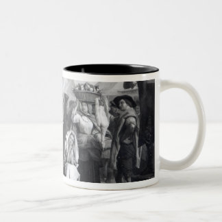 Dr. Johnson doing penance in the market place Two-Tone Coffee Mug