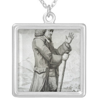 Dr Johnson in his Travelling Dress, 1786 Silver Plated Necklace