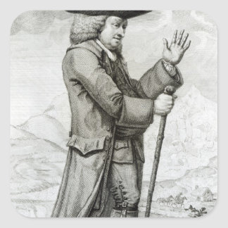 Dr Johnson in his Travelling Dress, 1786 Square Sticker