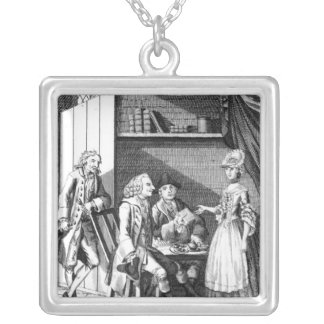 Dr Johnson's Entertainment Silver Plated Necklace