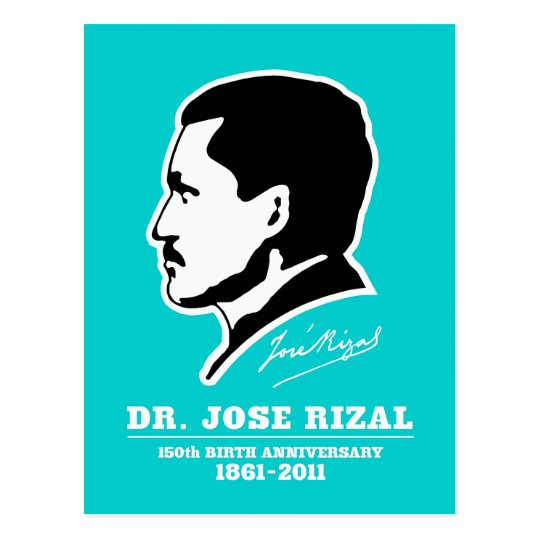 Dr. Jose Rizal @ 150th Birth Anniversary Souvenirs Postcard
