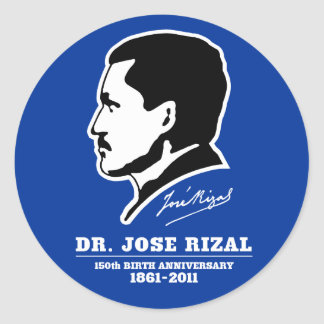 Dr. Jose Rizal @ 150th Birth Anniversary Souvenirs Round Stickers