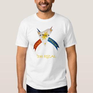 "Dr Jose Rizal "" Love Kills Heroes"" T Shirt"