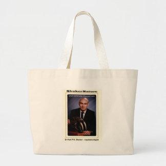 Dr Karl Shuker and Smilodon Skull - ShukerNature Large Tote Bag