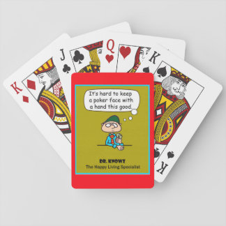 """Dr. Knowz """"Poker Face"""" Playing Cards"""