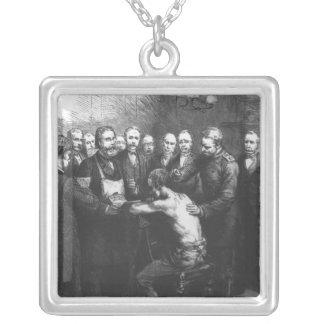 Dr Koch's Treatment for Consumption Square Pendant Necklace
