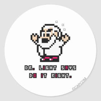 Dr. Light Says Classic Round Sticker