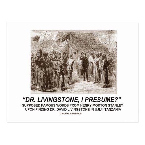 "Livingstone I Presume : ""Dr Livingstone, I Presume"" Postcard  Zazzle"
