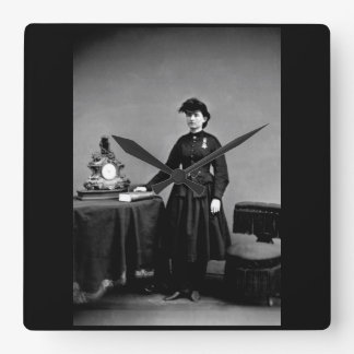 Dr. Mary Walker_War Image Square Wall Clock