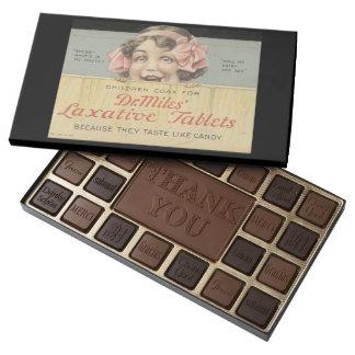 Dr. Miles Laxative Tablets Ephemera 45 Piece Box Of Chocolates