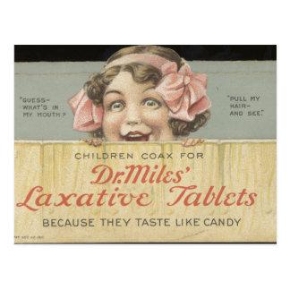Dr. Miles Laxative Tablets Ephemera Postcard
