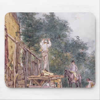Dr. Monro inspecting his stables Mouse Pad