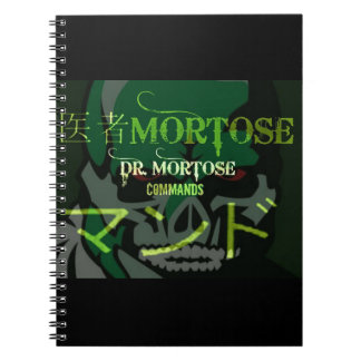 Dr. Mortose Commands English/Japanese notebook
