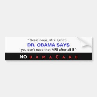 Dr. Obama Says Bumper Sticker