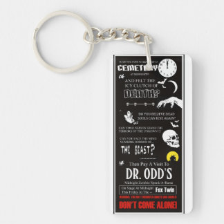 Dr. Odd's Spook Show Single-Sided Rectangular Acrylic Keychain