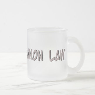 DR of Canon Law Frosted Glass Coffee Mug