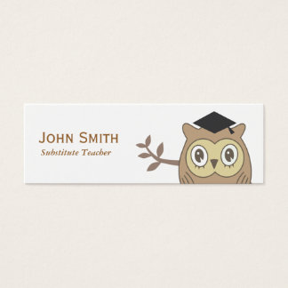 Dr. Owl Substitute Teacher Mini Business Card