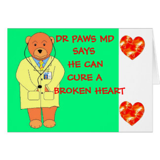 Dr Paws Poorly Bear Card .