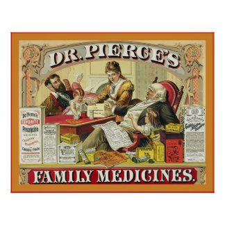 Dr. Peirce's Family Medicines ~ Vintage Advert Posters