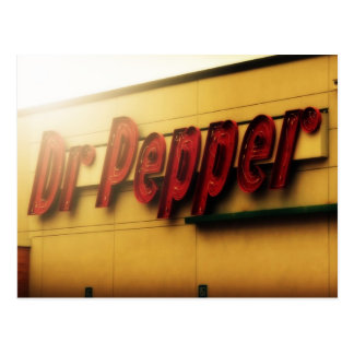 Dr. Pepper Sign Postcard