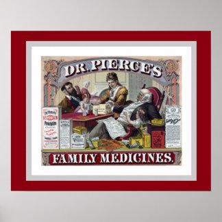 Dr. Pierce's Family Medicine Vintage Ad Poster