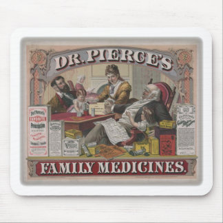 Dr. Pierce's family medicines old tyme ad Mouse Pad