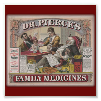 Dr. Pierce's family medicines old tyme ad Photo Art