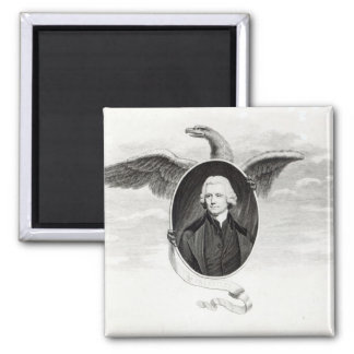 Dr. Priestley, illustration from Philosophers 2 Inch Square Magnet