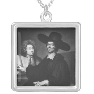 Dr Richard Busby  engraved by James Masson Silver Plated Necklace