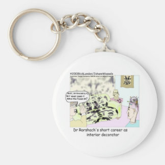 Dr Roarscach Interior Decorator Funny Tees & Gifts Keychains