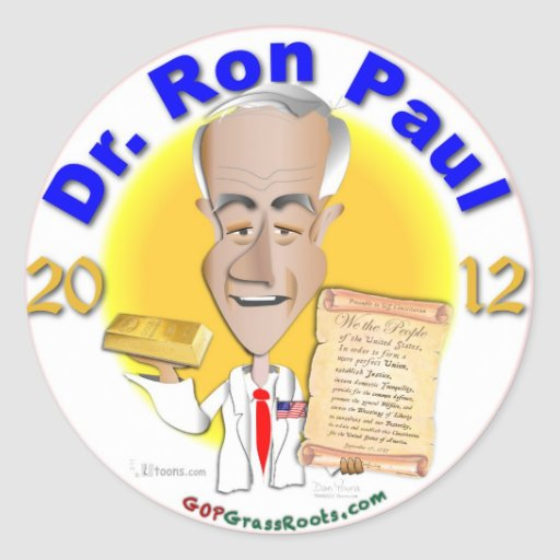 Dr. Ron Paul Classic Round Sticker