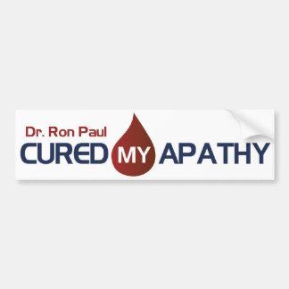 Dr. Ron Paul Cured My Apathy Bumper Sticker