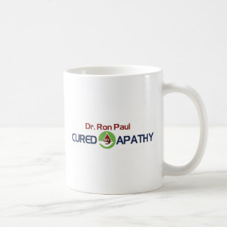 Dr. Ron Paul Cured My Apathy Classic White Coffee Mug