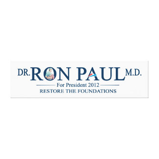 Dr. Ron Paul M.D. For President 2012 Stretched Canvas Prints