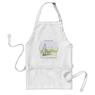 Dr Rorschach Takes Dog Spot 4 A Walk Funny Adult Apron