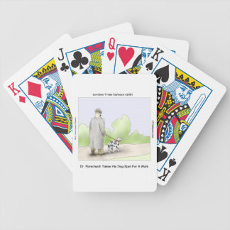 Dr Rorschach Takes Dog Spot 4 A Walk Funny Bicycle Playing Cards
