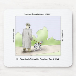 Dr Rorschach Takes Dog Spot 4 A Walk Funny Mouse Pad