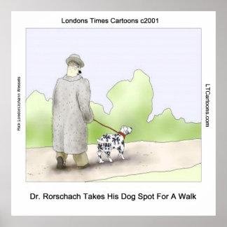 Dr Rorschach Takes Dog Spot 4 A Walk Poster