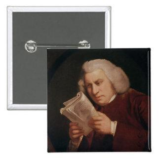 Dr. Samuel Johnson  1775 2 Inch Square Button