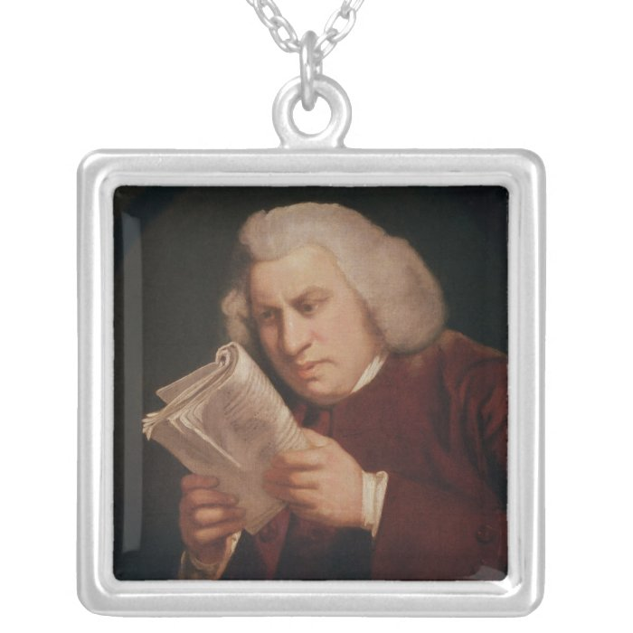 Dr. Samuel Johnson  1775 Silver Plated Necklace