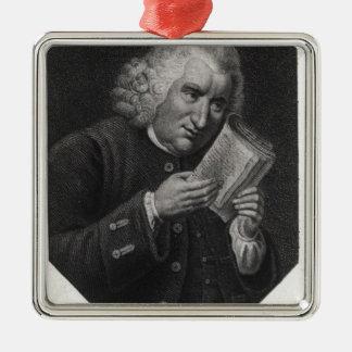 Dr. Samuel Johnson Metal Ornament