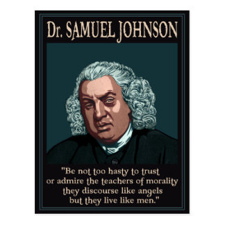 Dr. Samuel Johnson Postcard