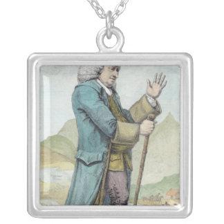 Dr Samuel Johnson Square Pendant Necklace